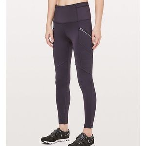 Lululemon Toasty Tech tights, purple, size 4